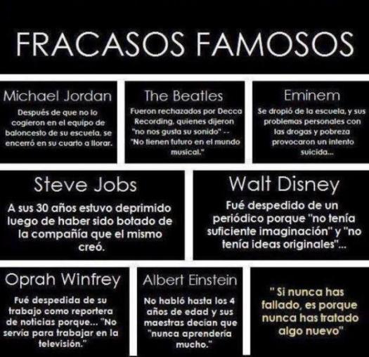 fracasos famosos